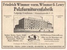 Bildinhalt: Zeitungsannonce (1930er Jahre?)