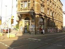 Bildinhalt: Straßenansicht vor der Sanierung