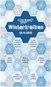 Bildinhalt: Erstes Wintertreiben in der Georg-Schwarz-Straße