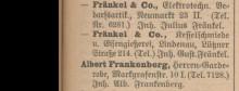 Bildinhalt: Die Fa. Fränkel & Co., Kesselschmiede und Eisengießerei, in Lindenau, Lützner Straße 214, im Leipziger Adressbuch 1909
