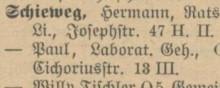 Bildinhalt: Leipziger Adressbuch 1933
