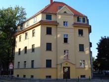 Bildinhalt: im Eckgebäude Friesenstraße 1 wohnten 1949 Manfred Krug und sein Bruder Roger Krug