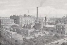 Bildinhalt: Die Fabrik in Leipzig-Lindenau 1912