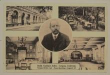 Bildinhalt: Postkarte Etablissement Goldner Adler in Leipzig-Lindenau, Angerstraße 49, Inhaber: Franz Sperling