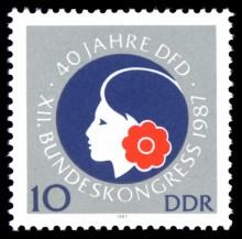Bildinhalt: DDR-Briefmarke von 1987 zum Jubiläum