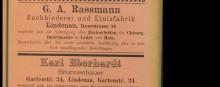 Bildinhalt: Anzeigen aus dem Adreßbuch für Lindenau-Plagwitz und Neu-Schleußig 1887