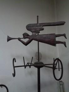 Bildinhalt: Eine Wetterfahne aus der Kupferschmiede Burckhard Siegel.