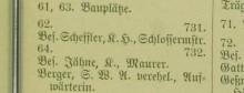Bildinhalt: Auszug aus dem  Adreß-Buch für Lindenau, Erscheinungsdatum 1889, Lizenz-/Rechtehinweis: Public Domain Mark 1.0, Sächsische Landesbibliothek – Staats- und Universitätsbibliothek Dresden (SLUB)
