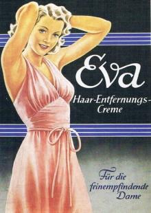 Bildinhalt: Reklame für Haarentfernungs-Creme