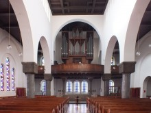 Bildinhalt: Blick zur Orgel