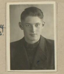 Bildinhalt: Passbild Günter Kröber, ca. 1947