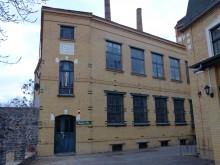 Bildinhalt: Das Gebäude der ehem. Leipziger Westend-Brotfabrik, spätere Schmidt-Brotfabrik Paul Schmidt, Leipzig W 33. Das