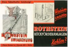 Bildinhalt: Werbeprospekt für Rothstein-Entaschung, 1936
