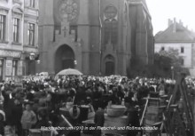 Bildinhalt: Lindenau war bekannt für seine Kram- und Viehmärkte. Hier ein Bild vom Film <Leipzig Lindenau 1910>
