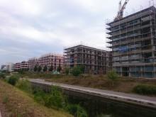 Bildinhalt: Neubauten an der Hafenstraße. Foto © Lindenauer Stadtteilverein e. V.