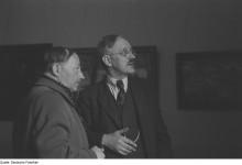 Bildinhalt: Max Schwimmer (links) und Conrad Felixmüller (1950)