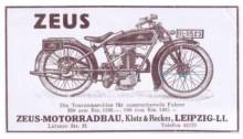 Bildinhalt: Werbung für Zeus-Motorradbau in der Lützner Straße 81, Quelle: Archiv Gerd Horn