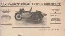 Bildinhalt: Dürrenberger Str. 14, Briefkopf der Fa. ARKI-Fahrzeugbau Arthur Kirchhoff. Archiv Gerd Horn