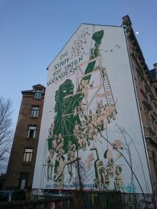 Bildinhalt: Fassadengestaltung an der Merseburger Straße 94