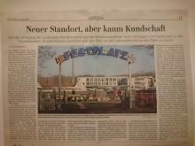Bildinhalt: Die LVZ vom 9.3.2021 berichtet über die Verlegung des Lindenauer Wochenmarktes an den Cottaweg