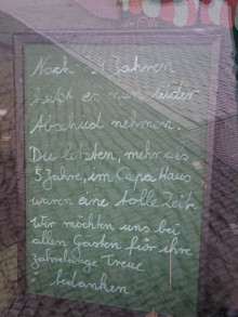 Bildinhalt: Im September 2021 wurde das Café Eigler geschlossen.